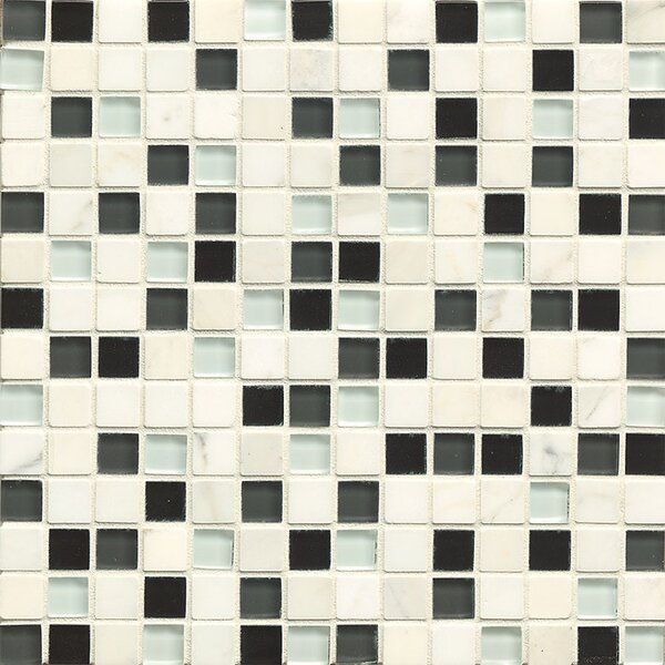 Concord 0.75 x 0.75 Stone and Glass Mosaic Tile in Serenity by Grayson Martin