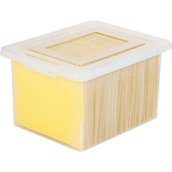 Letter Legal Size File Box Storage (Set of 4) by IRIS USA, Inc.