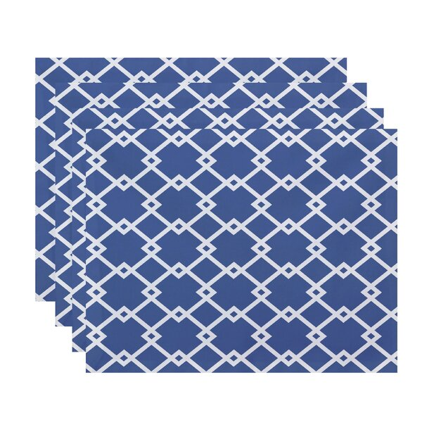 Link Lock Geometric Placemat (Set of 4) by e by design