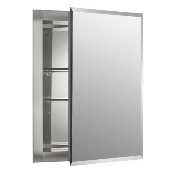 16 x 20 Recessed Frameless Medicine Cabinet with 2 Adjustable Shelves