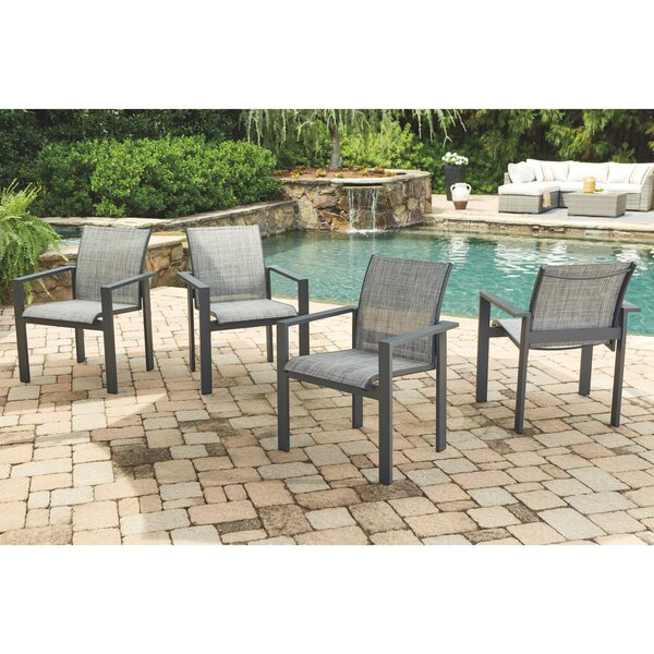 Stacking Patio Dining Chair (Set of 4) by Latitude Run