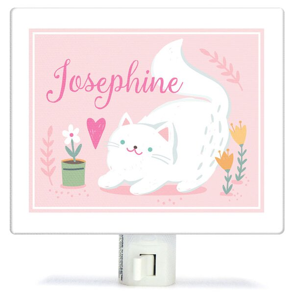 Personalized Playful Kitten Canvas Night Light by Oopsy Daisy