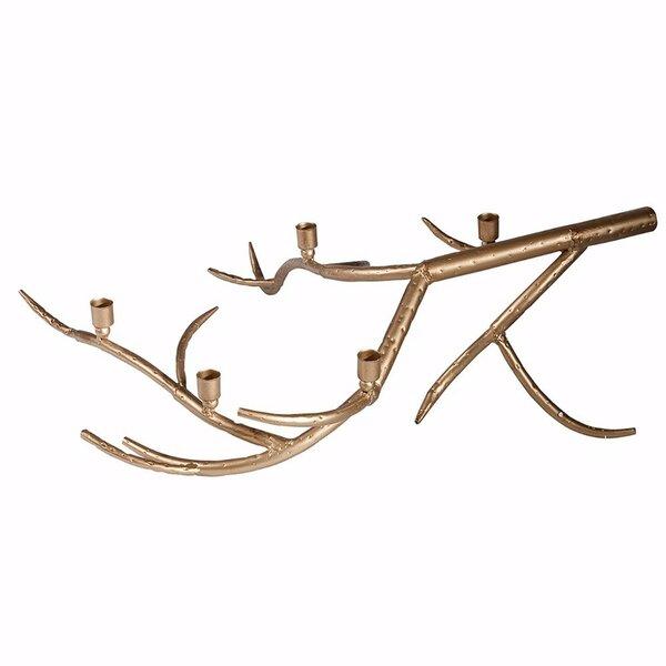 Striking Tree Branch Metal Candelabra by Millwood Pines