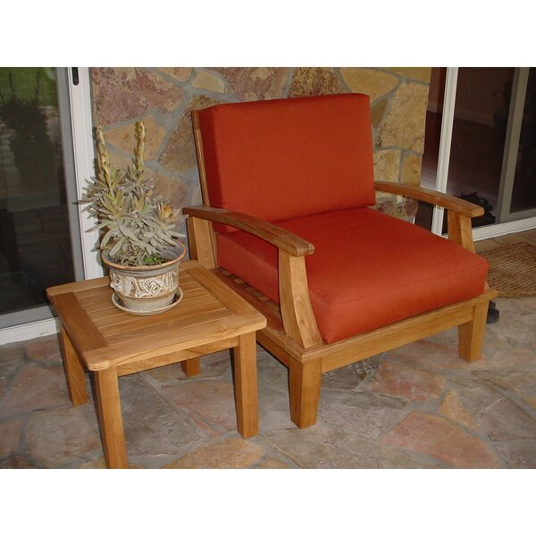Bourgoin Teak Patio Chair by Freeport Park