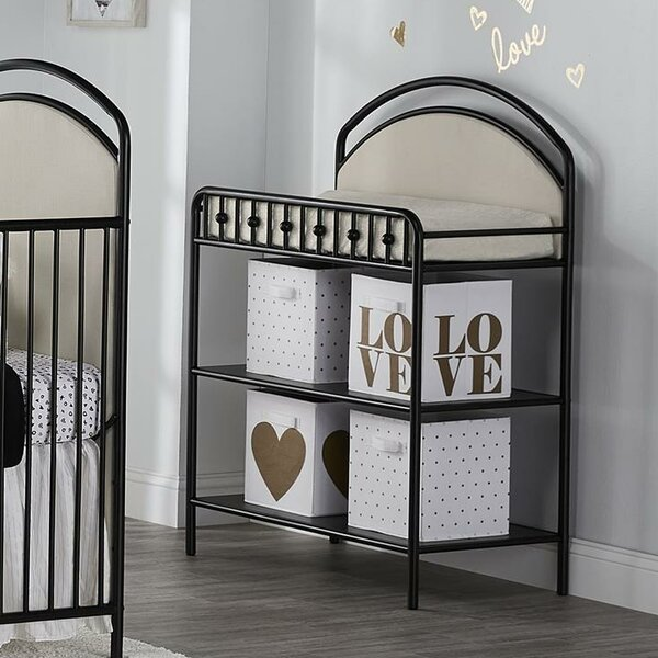 Rowan Valley Lotus Upholstered Metal Changing Table by Little Seeds
