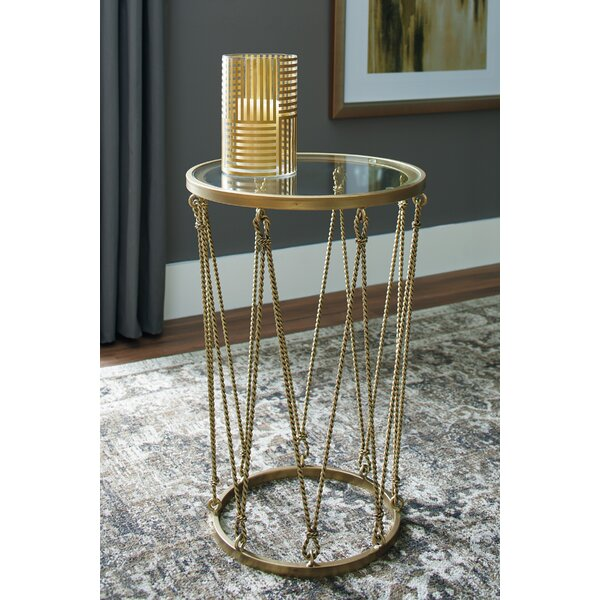 Noelia End Table by Breakwater Bay