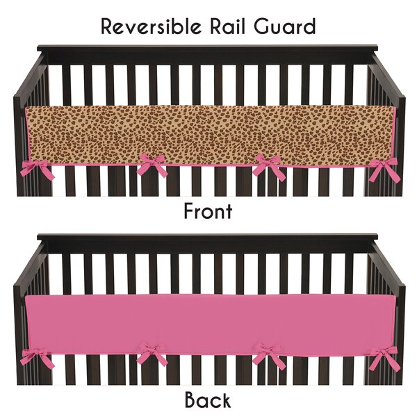 Cheetah Girl Long Crib Rail Guard Cover by Sweet Jojo Designs