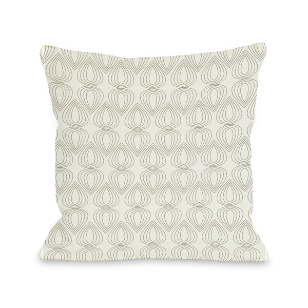 Mod Drops Geometric Throw Pillow by One Bella Casa