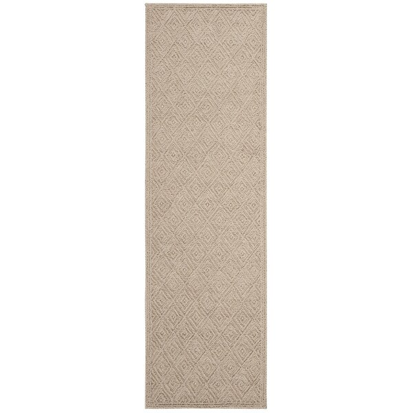 Saranac Hand-Tufted Wool Beige Area Rug by Charlton Home