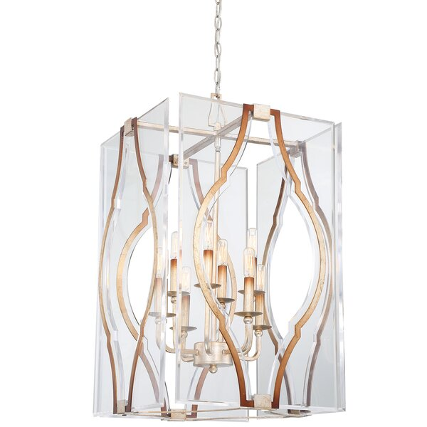 Brenton Cove 6 - Light Unique / Statement Rectangle / Square Chandelier with Crystal Accents by Metropolitan by Minka Metropolitan by Minka