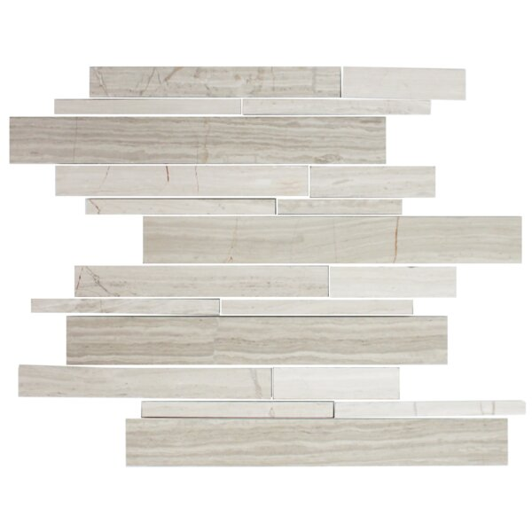 Random Sized Slate Mosaic Tile in Wooden White by Susan Jablon