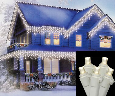 70 Wide Angle Twinkle Icicle Christmas Light by Vickerman