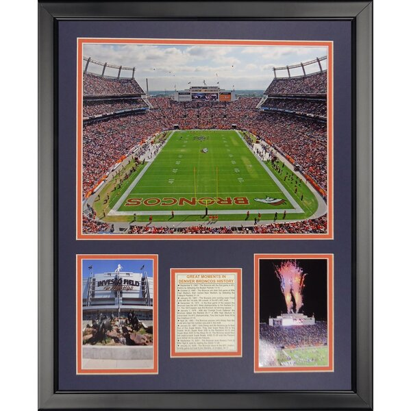 NFL Denver Broncos - Invesco Field Framed Memorabili by Legends Never Die