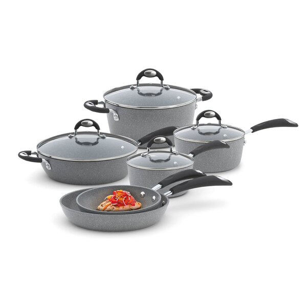 Granito 10 Piece Non-Stick Cookware Set by Bialetti