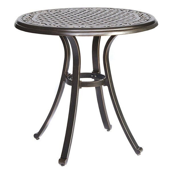 28 inch  Dia X 28.6 inch  Height Bistro Table Round Indoor And Outdoor Patio Dining Table by Fleur De Lis Living