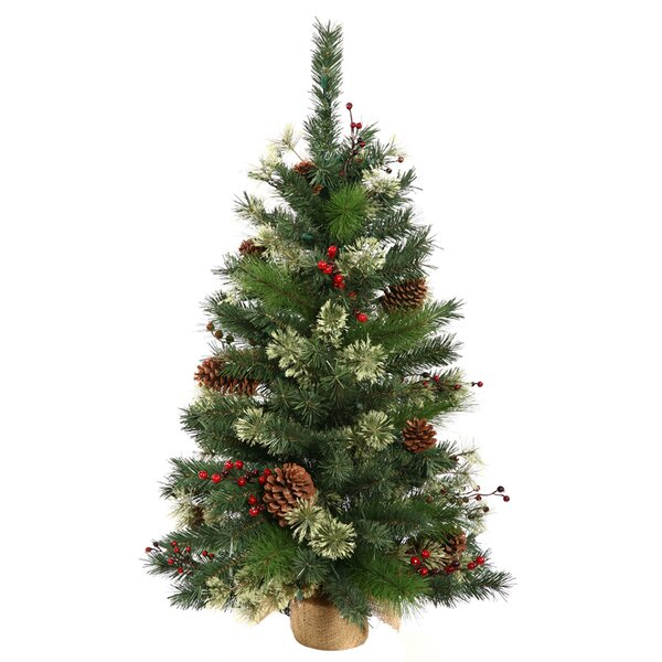 Nisswa Berry 24 Green Pine Artificial Christmas Tr