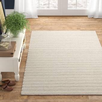 Lotta Jansdotter Textila Handwoven Wool Saffron Gray Rug Wayfair