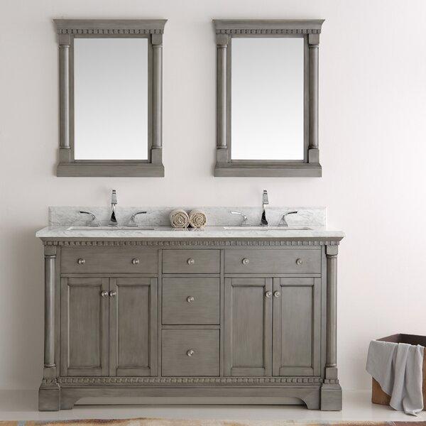 Kingston 61 Double Bathroom Vanity Set with Mirror