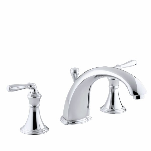 Devonshire Deck-/Rim-Mount Bath Faucet Trim for High-Flow Valve with 8-15/16 Diverter Spout and Lever Handles, Valve Not Included by Kohler
