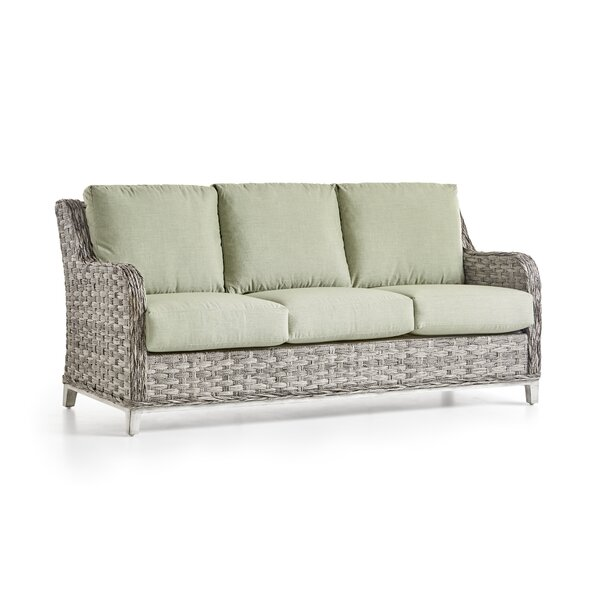 Craut Patio Sofa With Patio Cushions by Highland Dunes Highland Dunes