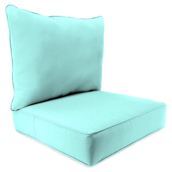 2 Piece Indoor/Outdoor Chair Cushion Set by Breakwater Bay