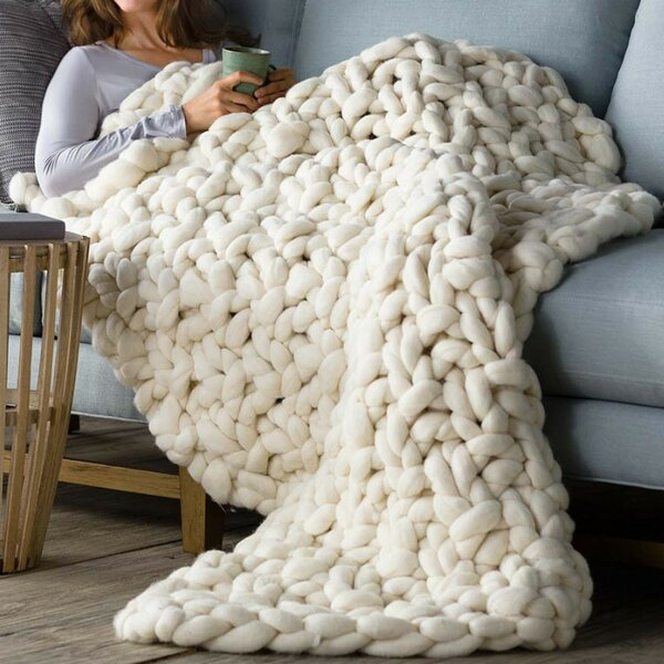 Groovy Chunky Knit Blankets Youll Love In 2019 Wayfair Bralicious Painted Fabric Chair Ideas Braliciousco
