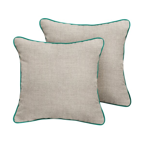 Benicia Sunbrella Cast Outdoor Throw Pillow (Set of 2) by Rosecliff Heights