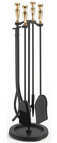 Ball Handle 5 Piece Fireplace Tool Set by Pilgrim Hearth