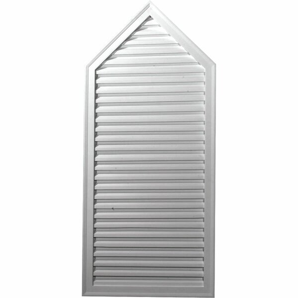 50H x 24W x 1 7/8D Peaked Gable Vent by Ekena Millwork