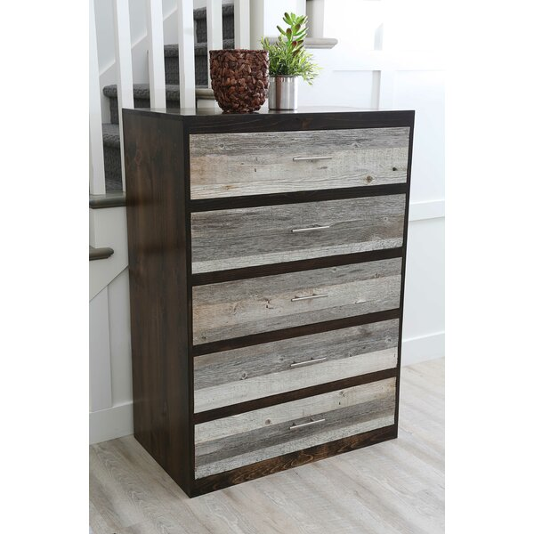 Frese 5 Drawer Chest by Union Rustic