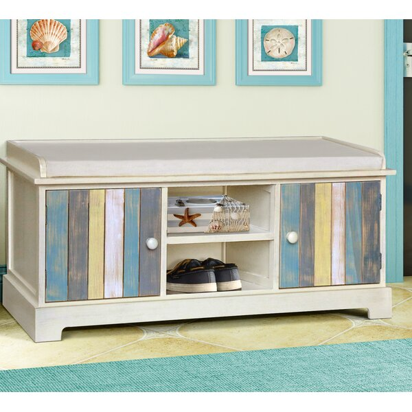 Seaside Wood Storage Bench by Gallerie Decor