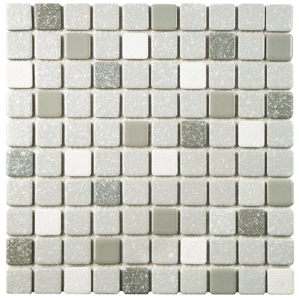 Minerva 1.1 x 1.1 Porcelain Mosaic Tile in Gray by EliteTile