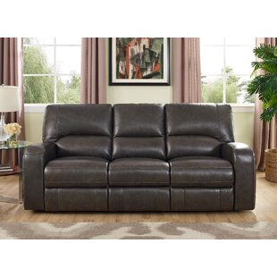 Woodhull Leather Reclining Sofa by Red Barrel Studio