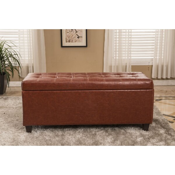 Classic Storage Ottoman by Bellasario Collection