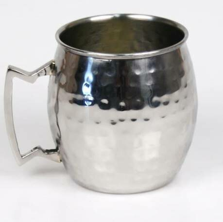 Taniya Moscow Mule Hammered 20 oz. Stainless Steel Mugs by Charlton Home