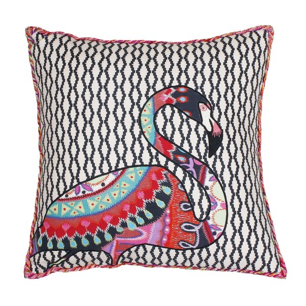 Randy Embroidered Cotton Throw Pillow by Ivy Bronx