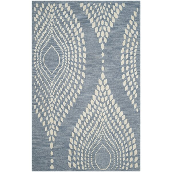 Smith Hand-Tufted Blue/Ivory Area Rug by Bungalow Rose