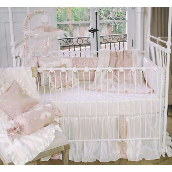 Blush Petal 3 Piece Crib Bedding Set by Blueberrie