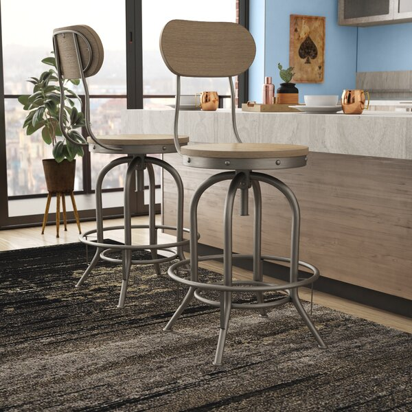 Doliver Adjustable Height Swivel Bar Stool (Set of 2) by Trent Austin Design