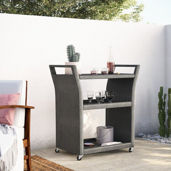 Crawfordsville Outdoor Bar Serving Cart by Mistana