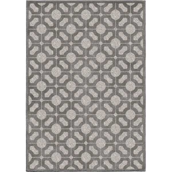 Dinsmore Gray Indoor/Outdoor Area Rug by Breakwater Bay