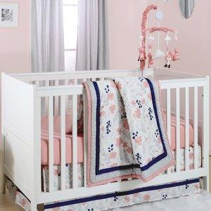 Floral Dot 6 Piece Crib Bedding Set