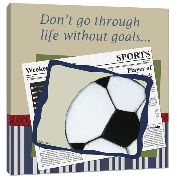 Sports Soccer in the News Canvas Art by Doodlefish