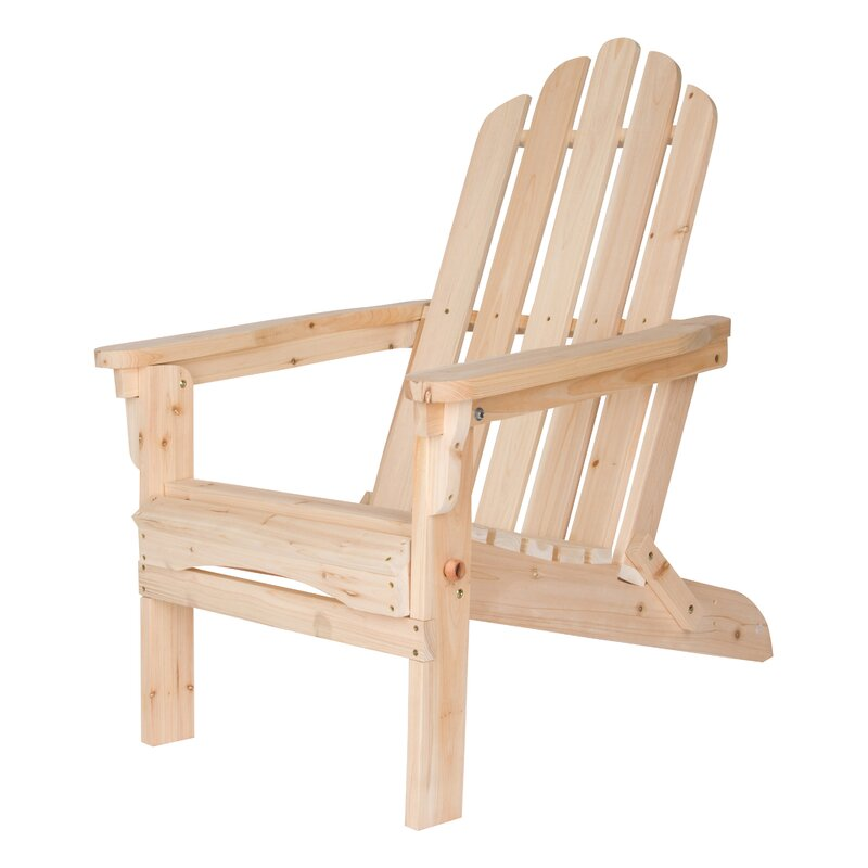 Shine Company Inc Marina Wood Folding Adirondack Chair