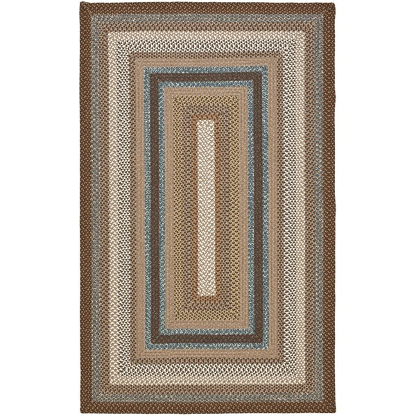 Liptak Hand-Braided Brown Area Rug by August Grove