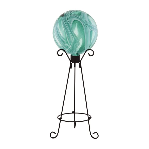 Ocean Swirls Gazing Globe by Evergreen Flag & Garden