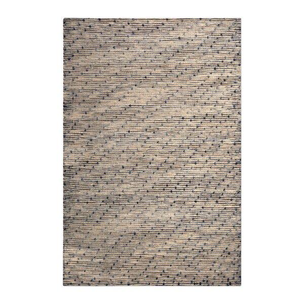 Dighton Hand-Woven Wool Beige/Navy Area Rug by Latitude Run