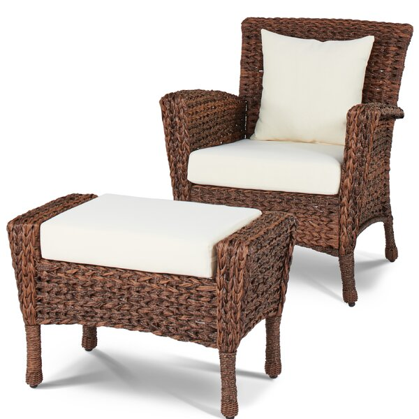 Huck Patio Chair with Cushion by Alcott Hill