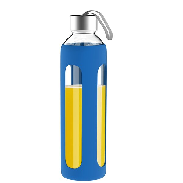 20 oz. Silicone Glass Water Bottle by Classic Cuisine