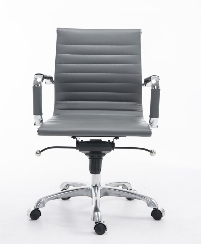 Radway Ribbed Mid Back Office Chair By Orren Ellis Trend